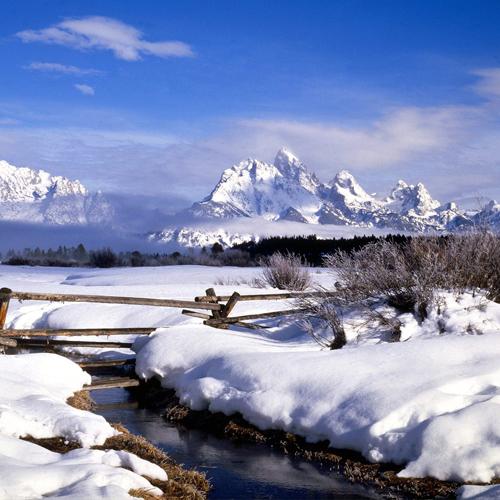 Foto montagna con neve