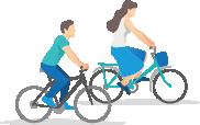 Escursione a piedi o in bicicletta di diverse ore con amici